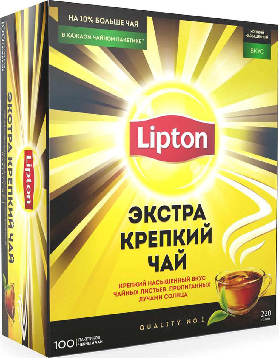 Lipton черный чай экстра крепкий в пакетиках, 100 шт летящая ласточка чай экстра 20 пакетики