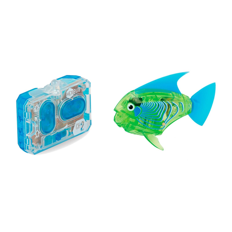 Робот на радиоуправлении HEXBUG Радиоуправляемая рыбка 460-4086 зеленый