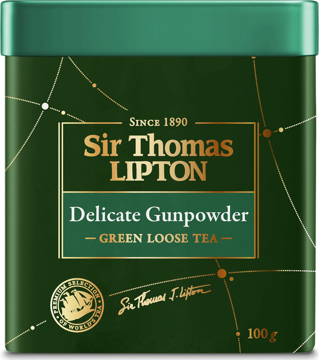 Sir Thomas Lipton Delicate Gunpowder чай зеленый листовой, 100 г delicate cosmetic brush 12pcs