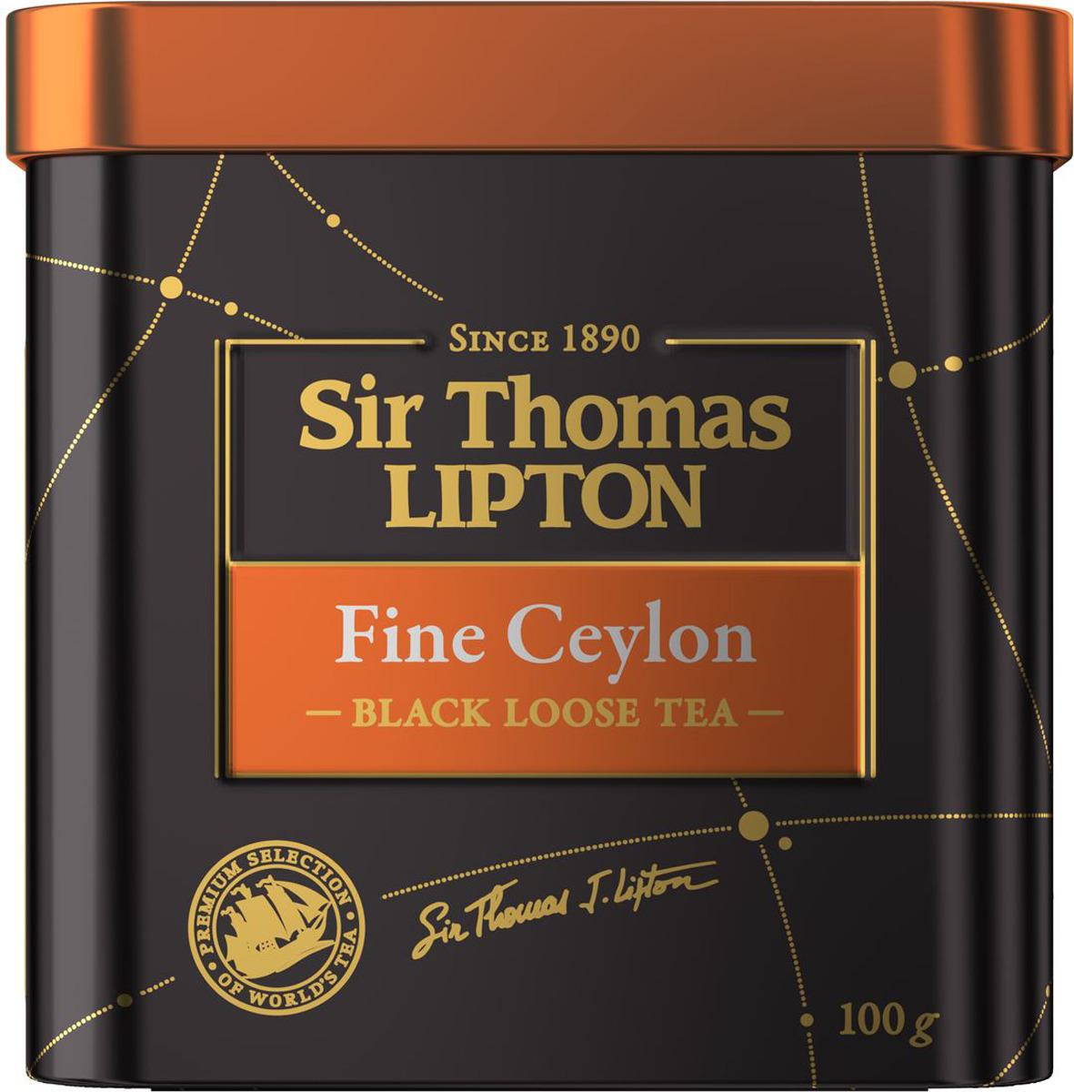 Sir Thomas Lipton Fine Ceylon чай черный листовой, 100 г lipton черный чай heart of ceylon 100 шт
