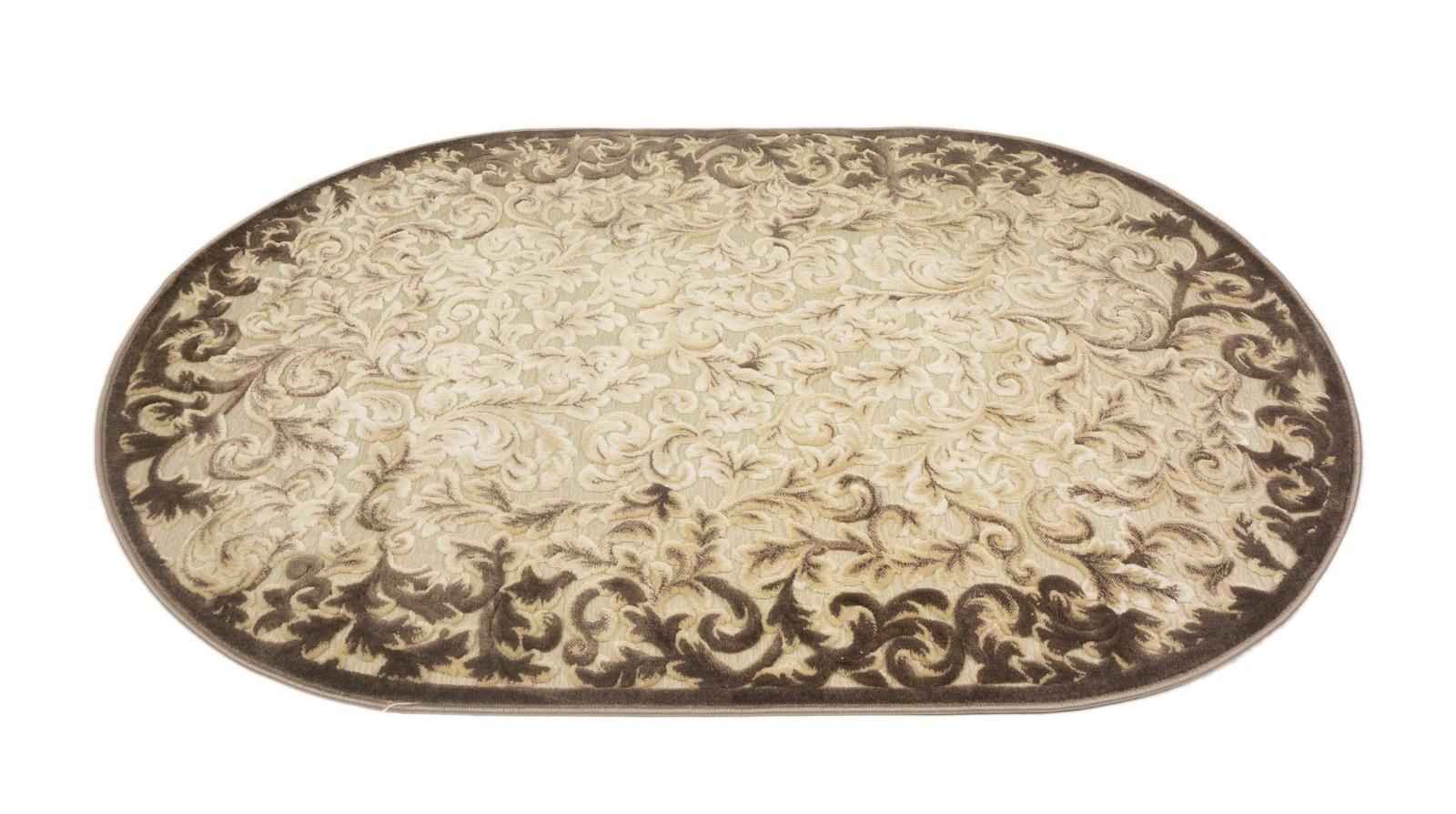 лучшая цена Ковер MADONNA 1,90х2,90/овал/80007А/беж-коричневый