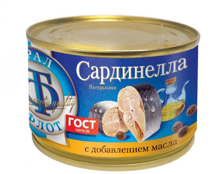 цена на Рыбные консервы ТраллФлот 6823, 240
