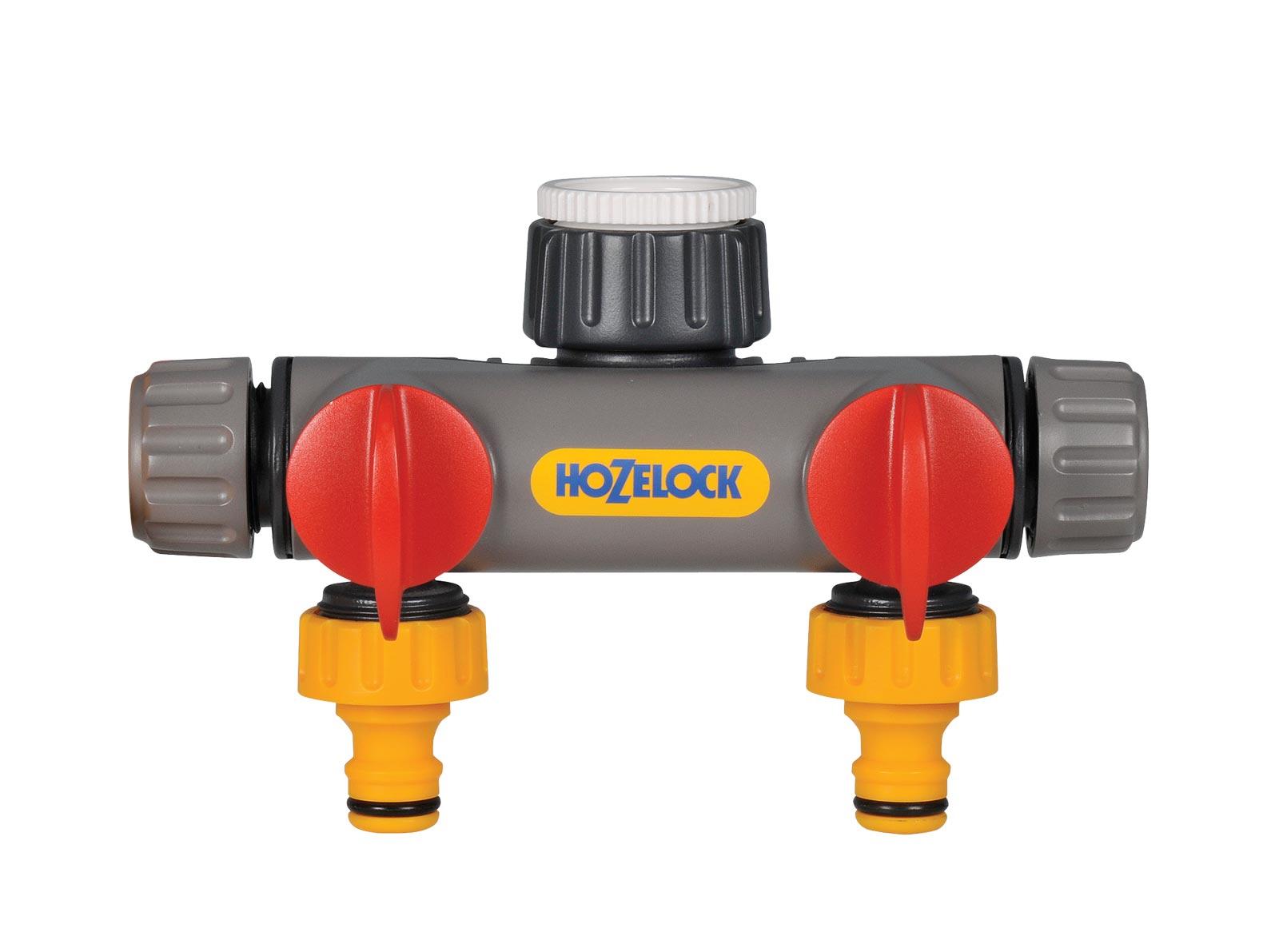Фото - Коннектор шланга Hozelock 2252 разделитель потоков 2х канальный, серый, желтый, красный, белый коннектор двойной для крана hozelock 22560000