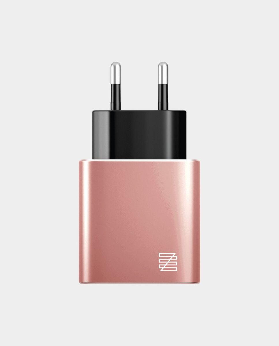 Сетевое зарядное устройство Lenzza Wall Charger LPAWCMFI 2,1 А, розовое золото Lenzza