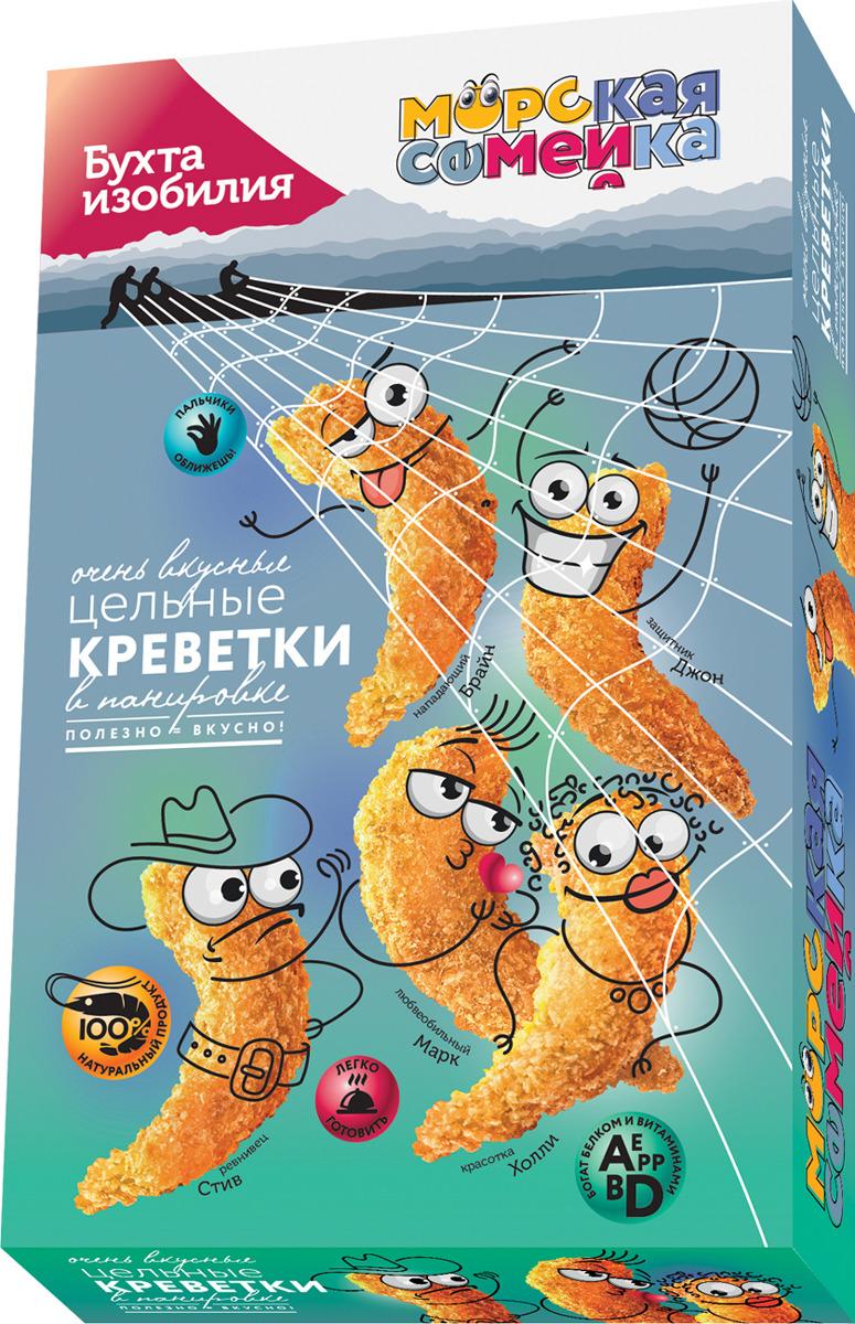 Фото - Креветки в панировке Бухта Изобилия Морская Семейка, свежемороженые, 200 г и серова рыба и морепродукты