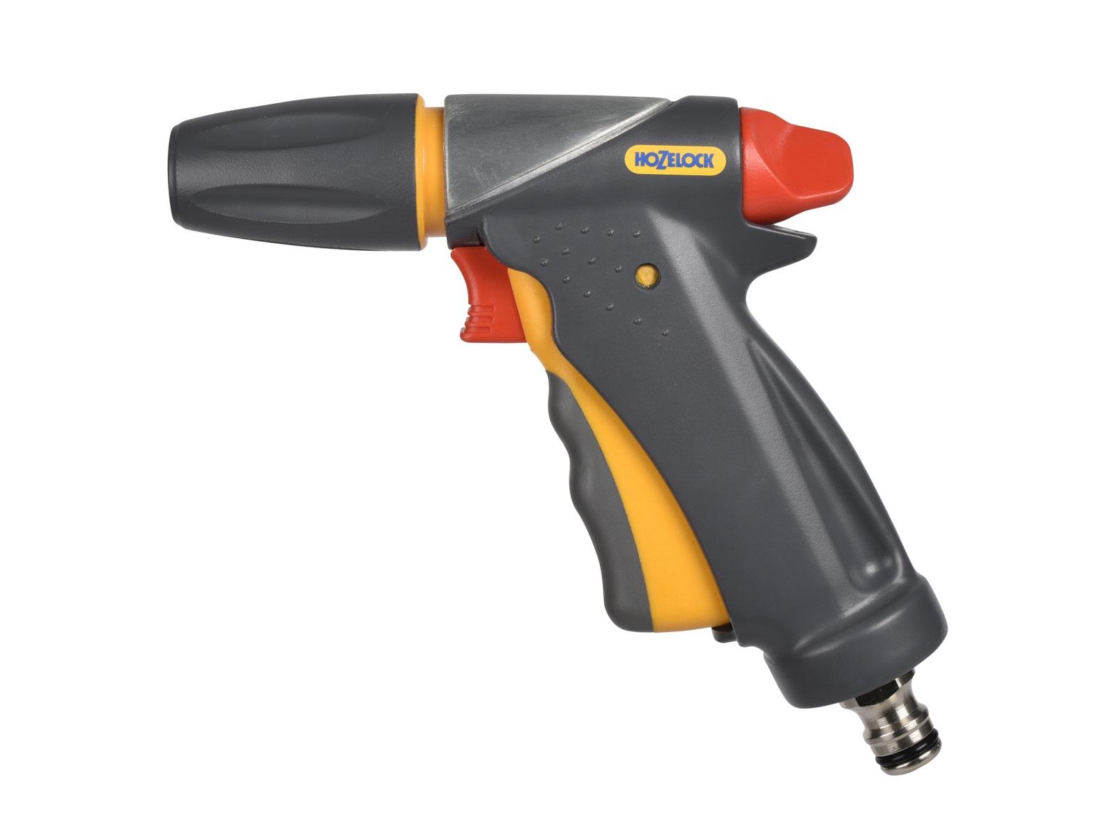 """Пистолет для полива Hozelock """"Jet Spray Ultraмax"""" Pro 2696, 3 режима, металлический, серый, желтый, красный"""