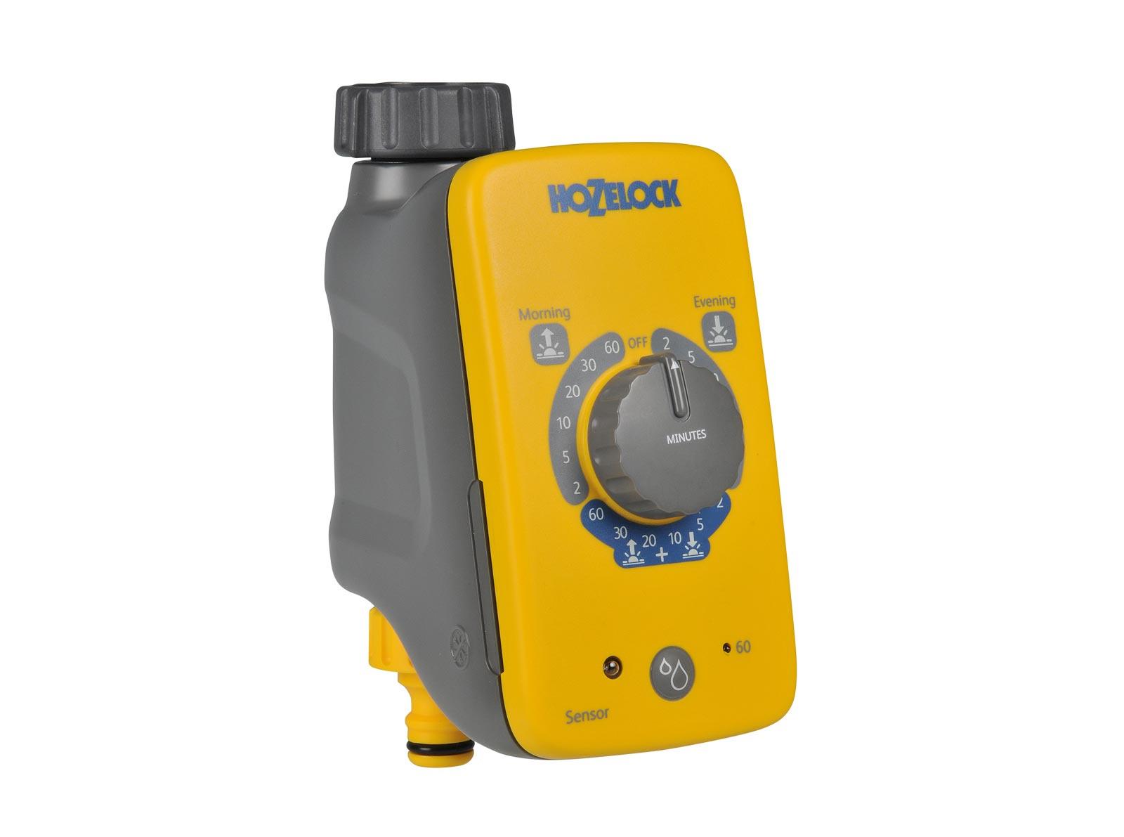 "Система полива Hozelock ""Plus"" 2212 таймер полива сенсорный, серый, желтый"