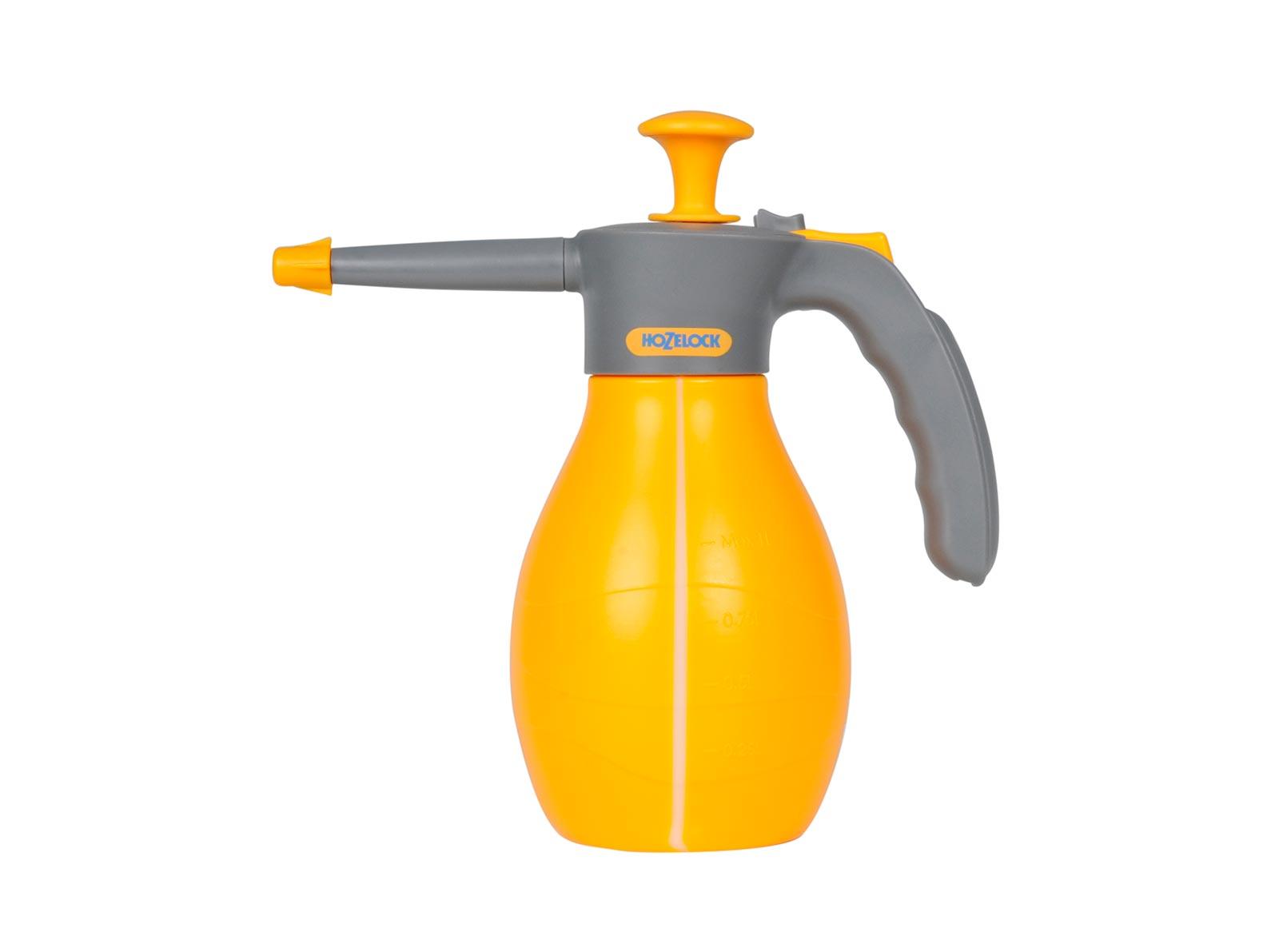 Опрыскиватель садовый Hozelock 4124 напорный, 1 л, желтый, серый