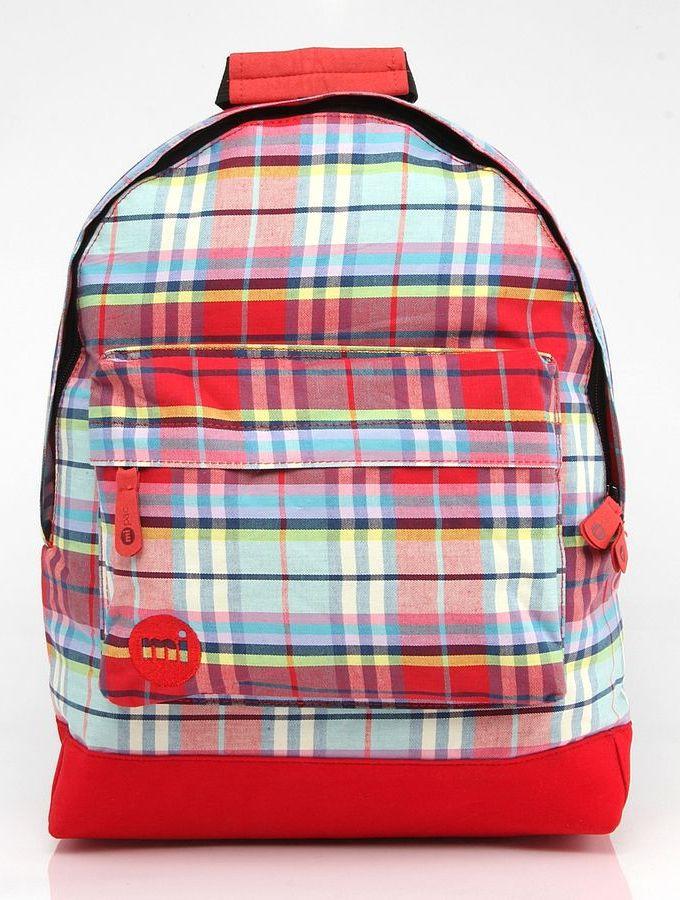 Рюкзак Mi-Pac Plaid Tartan, 740324-003, красный drop shoulder tartan plaid blouse