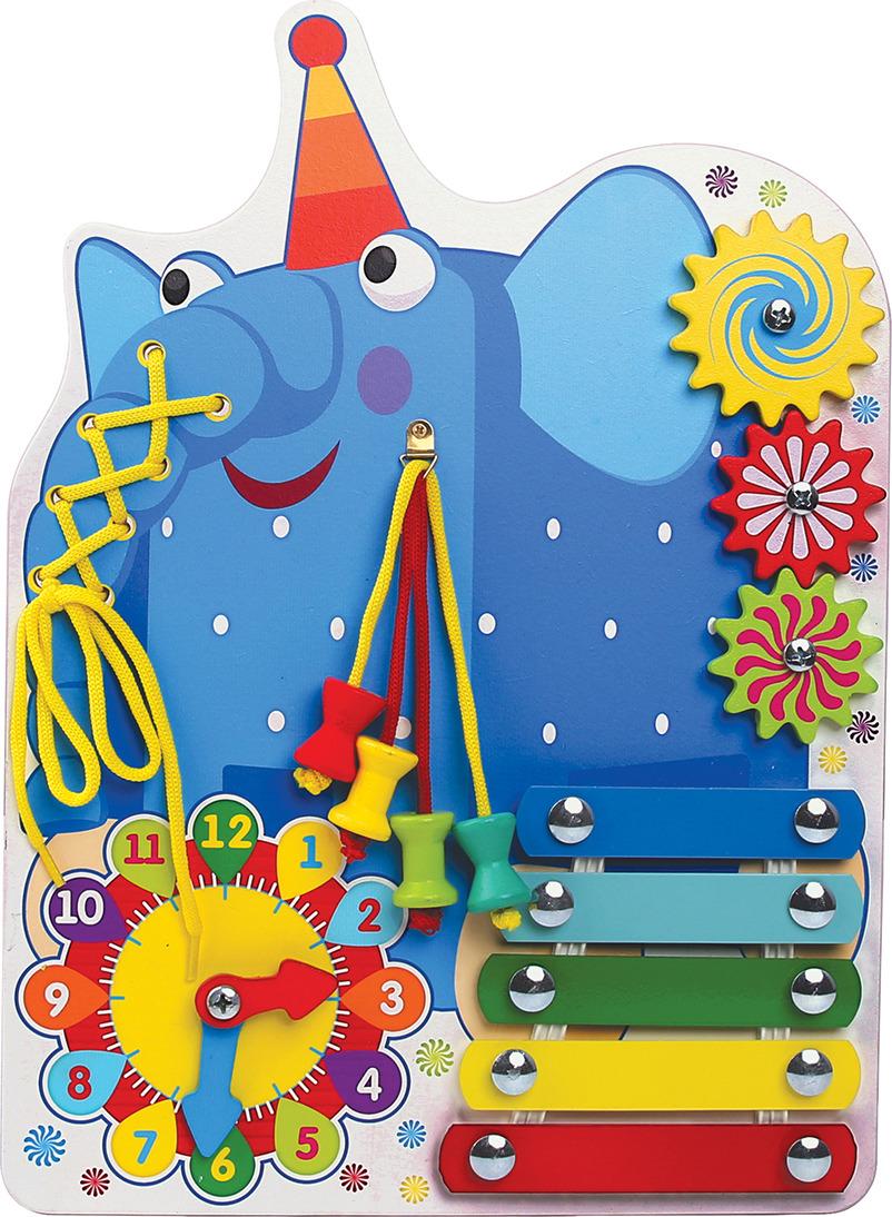Бизиборд Деревяшки Слон Ду-Ду, 18WBB05 каталка деревяшки слон ду ду синий
