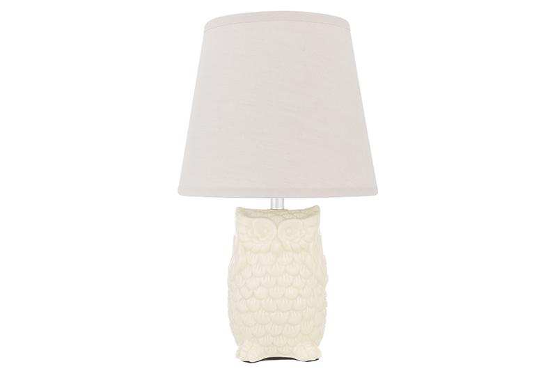 купить Настольный светильник Elan Gallery Сова, бежевый, серый по цене 1116 рублей