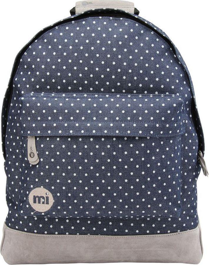 Рюкзак Mi-Pac Denim Spot, 740299-011, темно-синий рюкзак mi pac mini nordic navy 011