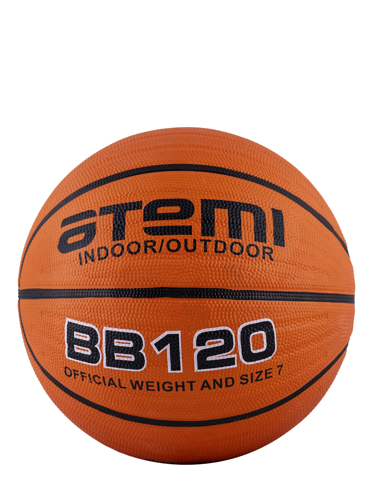 Мяч баскетбольный Atemi BB120, белый, оранжевый мяч баскетбольный atemi bb400 7