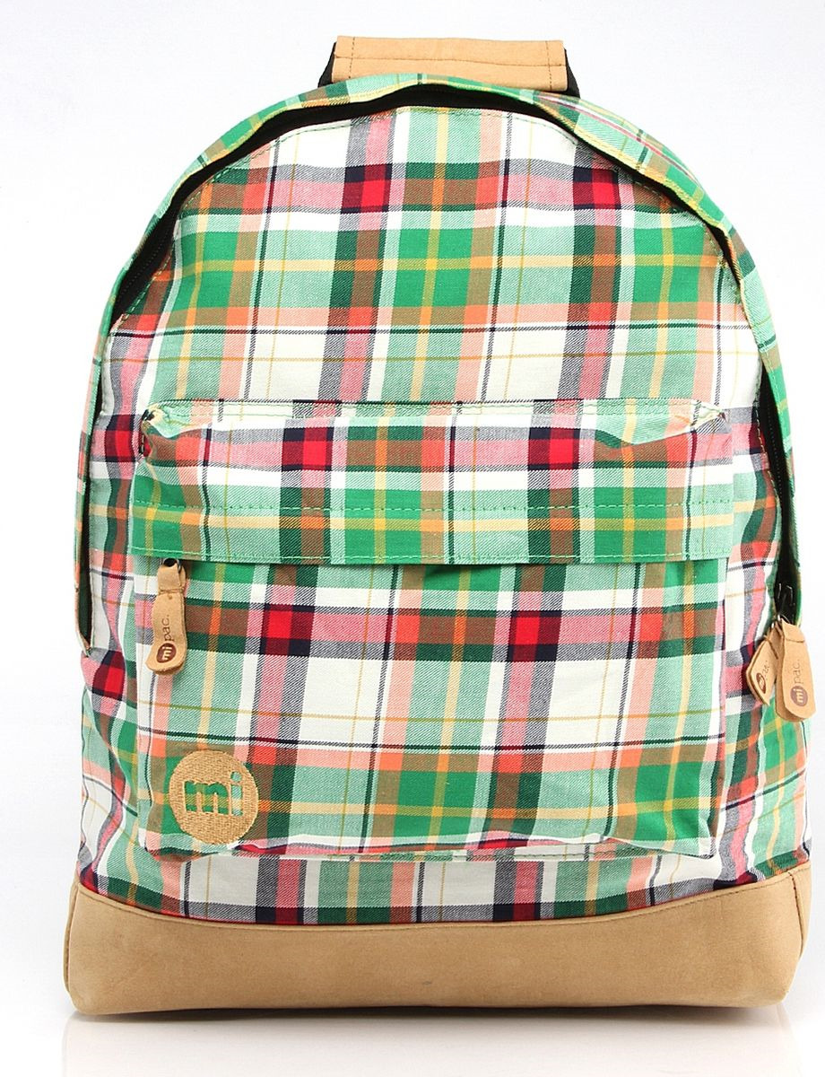 Рюкзак Mi-Pac Plaid Tartan, 740324-002, зеленый drop shoulder tartan plaid blouse