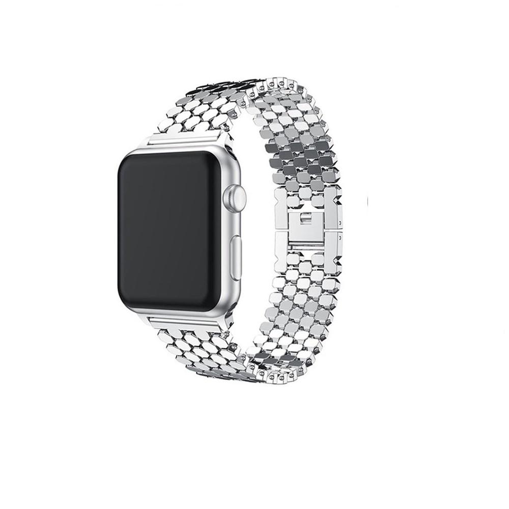 Ремешок для смарт-часов Aceshley Luxe для Apple Watch 42/44 series 1/2/3/4 Silver, серебристый чехол для смарт часов interstep спортивный для apple watch 40mm серебристый