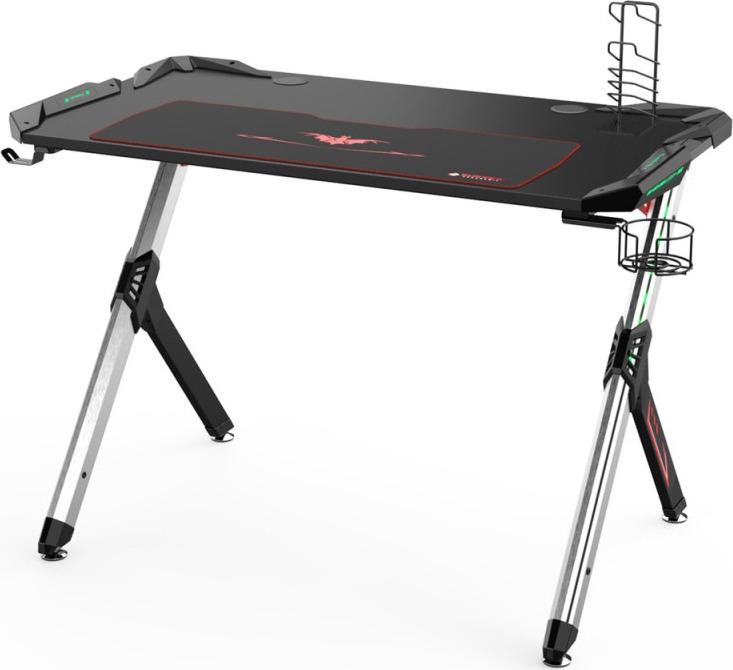 Игровой стол для геймеров Eureka R1-S, с RGB подсветкой, черный всего отлично смеют и lk160 полноцветный версия с подсветкой от usb проводной клавиатуры игровой