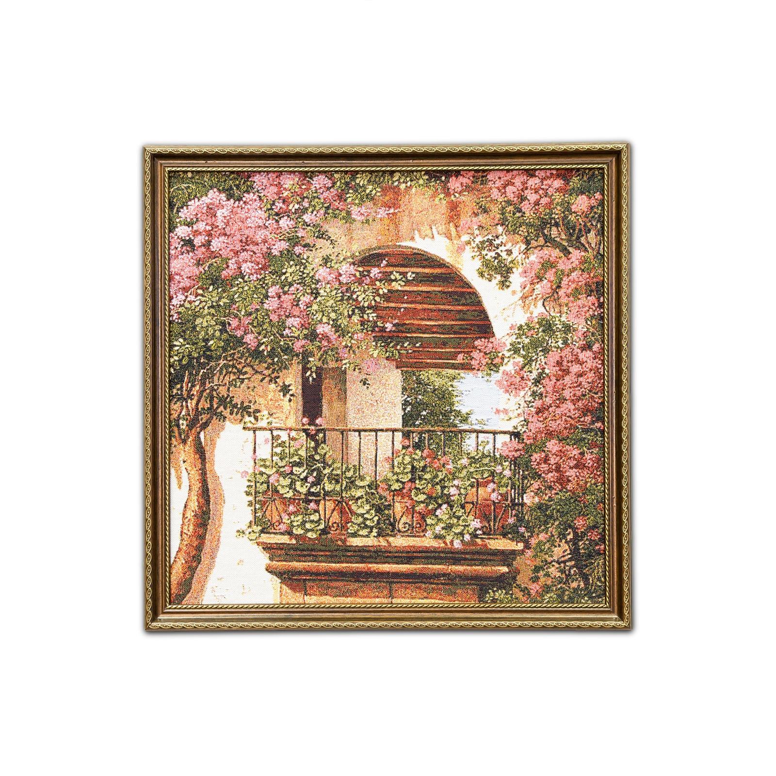 Картина Магазин гобеленов Цветочная арка 48*48см, коричневый цветочная арка ware flower delivery q110