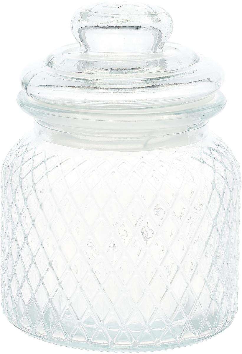 Банка для сыпучих продуктов Loraine, 28188, прозрачный, 600 мл28188Банка для сыпучих продуктов LORAINE выполнена из высококачественного стекла. Банка предназначена для хранения различных сыпучих продуктов: сахара, кофе, муки, соли, круп и т.п. Крышка с фиксатором препятствует проникновению влаги и посторонних запахов. Необычная и оригинально оформленная банка украсит любую кухню. Изделие не впитывает запахи и легко моется.