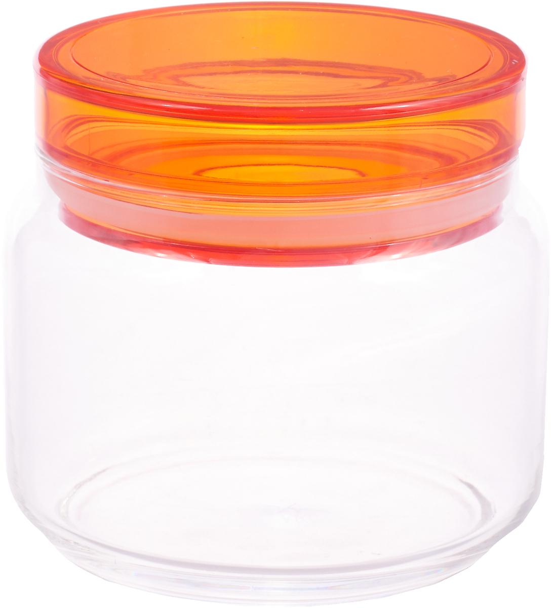 Банка для продуктов Luminarc Колорлишэс, прозрачный, оранжевый, 500 мл
