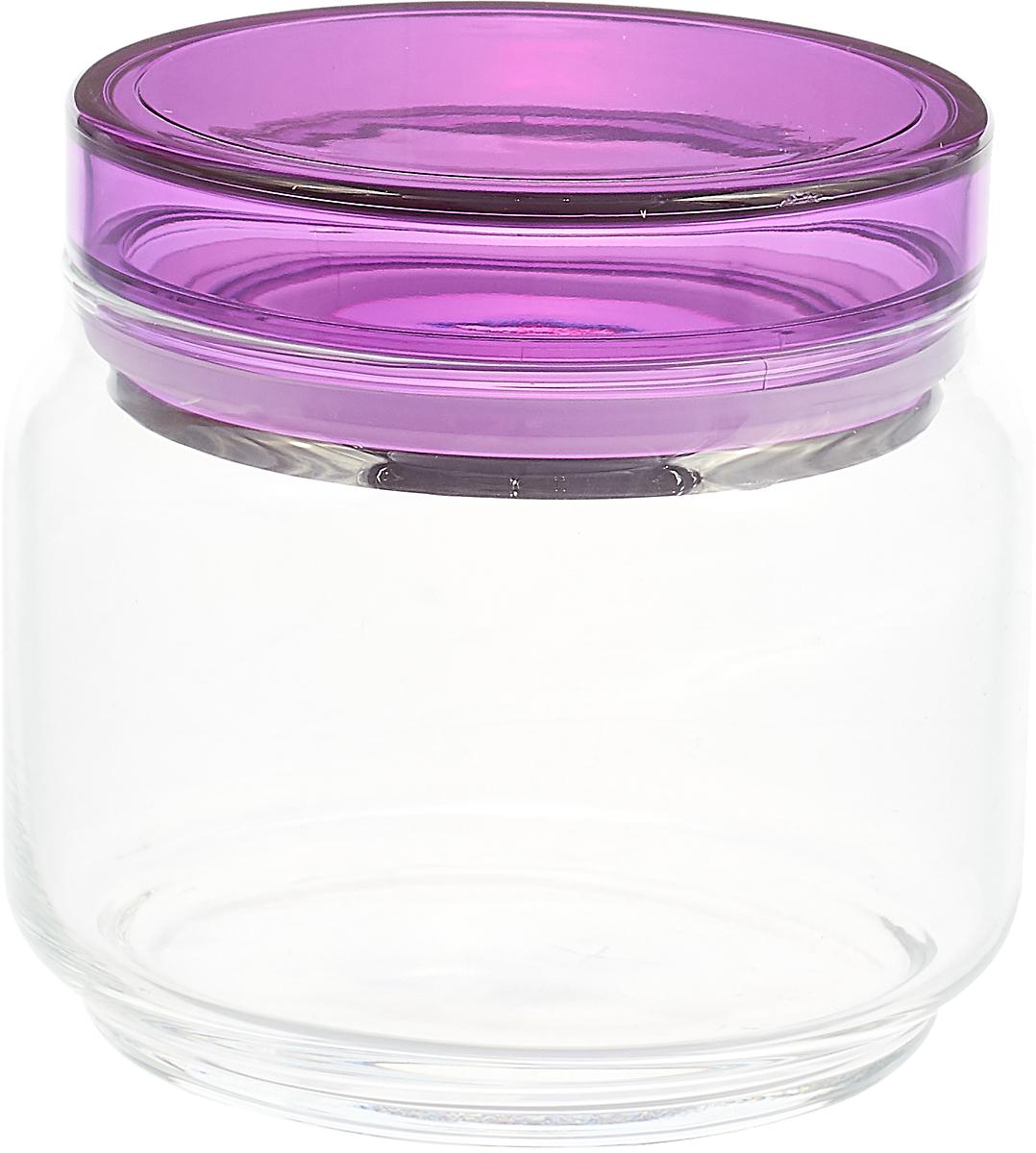 Банка для продуктов Luminarc Колорлишэс, прозрачный, фиолетовый, 500 мл банка для сыпучих продуктов luminarc boxmania 500 мл