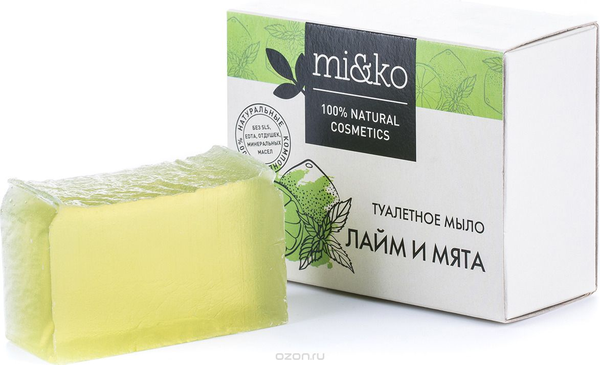 Мыло туалетное Mi&ko Лайм и мята, 75 г цена