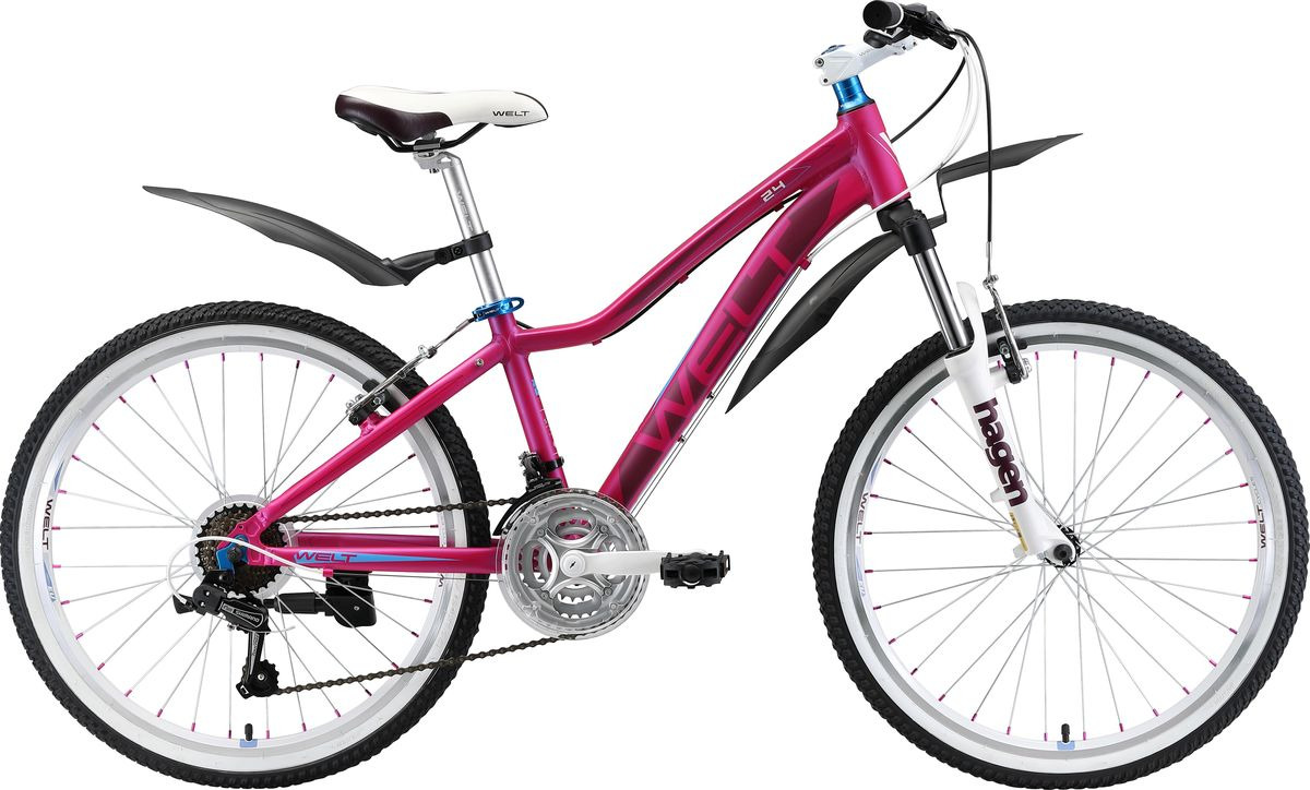 Велосипед детский Welt Edelweiss 24 2019, синий, розовый, диаметр колес 24
