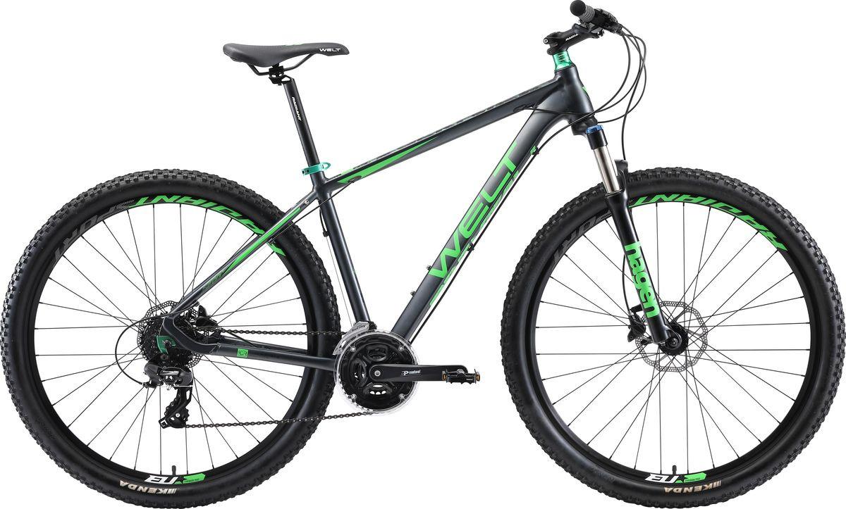 цена на Велосипед горный Welt Rockfall 1.0 29 2019, серый, зеленый, диаметр колес 29