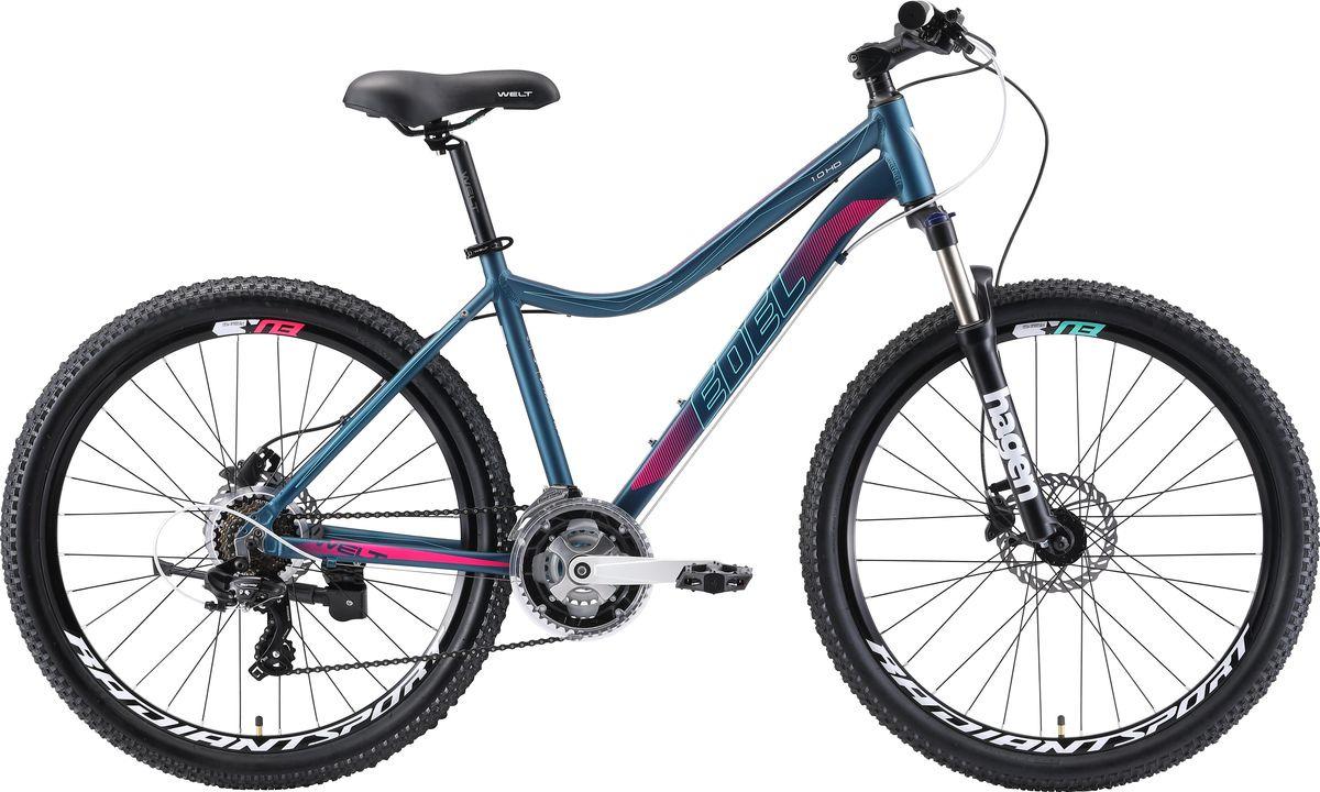 Велосипед горный Welt Edelweiss 1.0 HD 2019, синий, диаметр колес 26