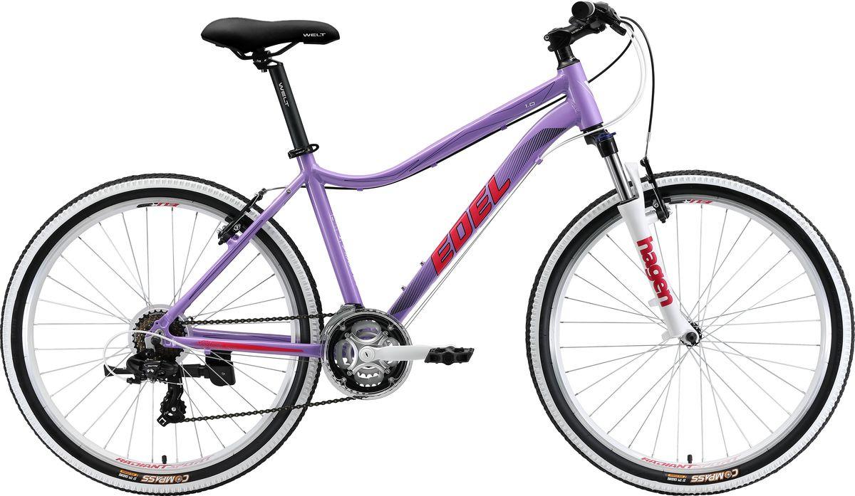 Велосипед горный Welt Edelweiss 1.0 2019, фиолетовый, розовый, диаметр колес 26