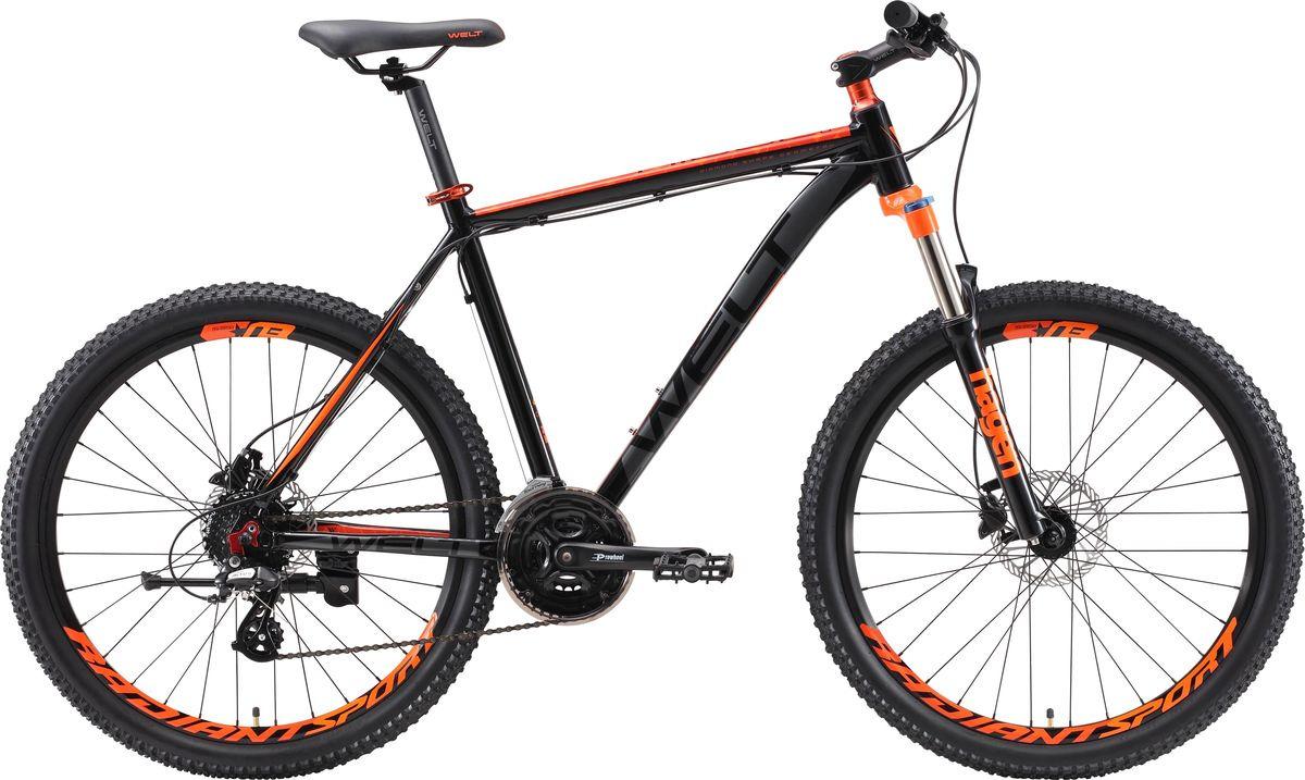 Велосипед горный Welt Ridge 2.0 HD 2019, серый, красный, диаметр колес 26 велосипед welt ridge 2 0 hd 2019