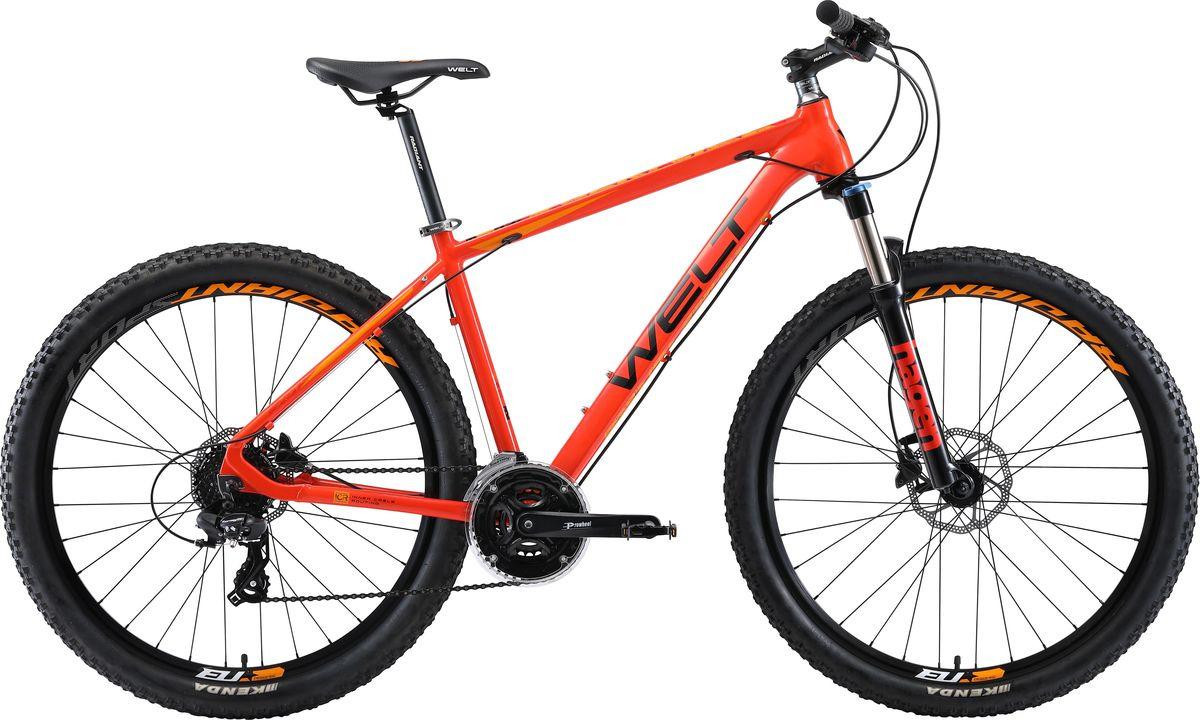 цена на Велосипед горный Welt Rockfall 1.0 29 2019, красный, черный, диаметр колес 29