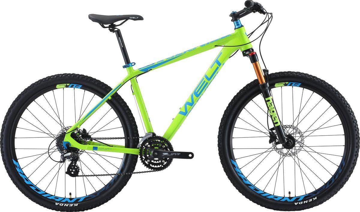 цена на Велосипед горный Welt Rockfall 2.0 27 2019, зеленый, синий, диаметр колес 27,5