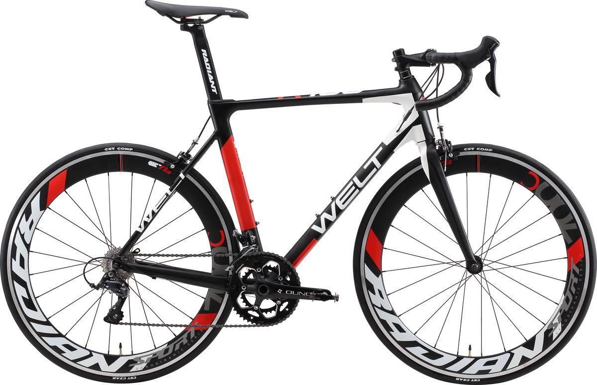цены на Велосипед шоссейный Welt R100 2019, черный, красный, белый, размер рамы 57 см  в интернет-магазинах