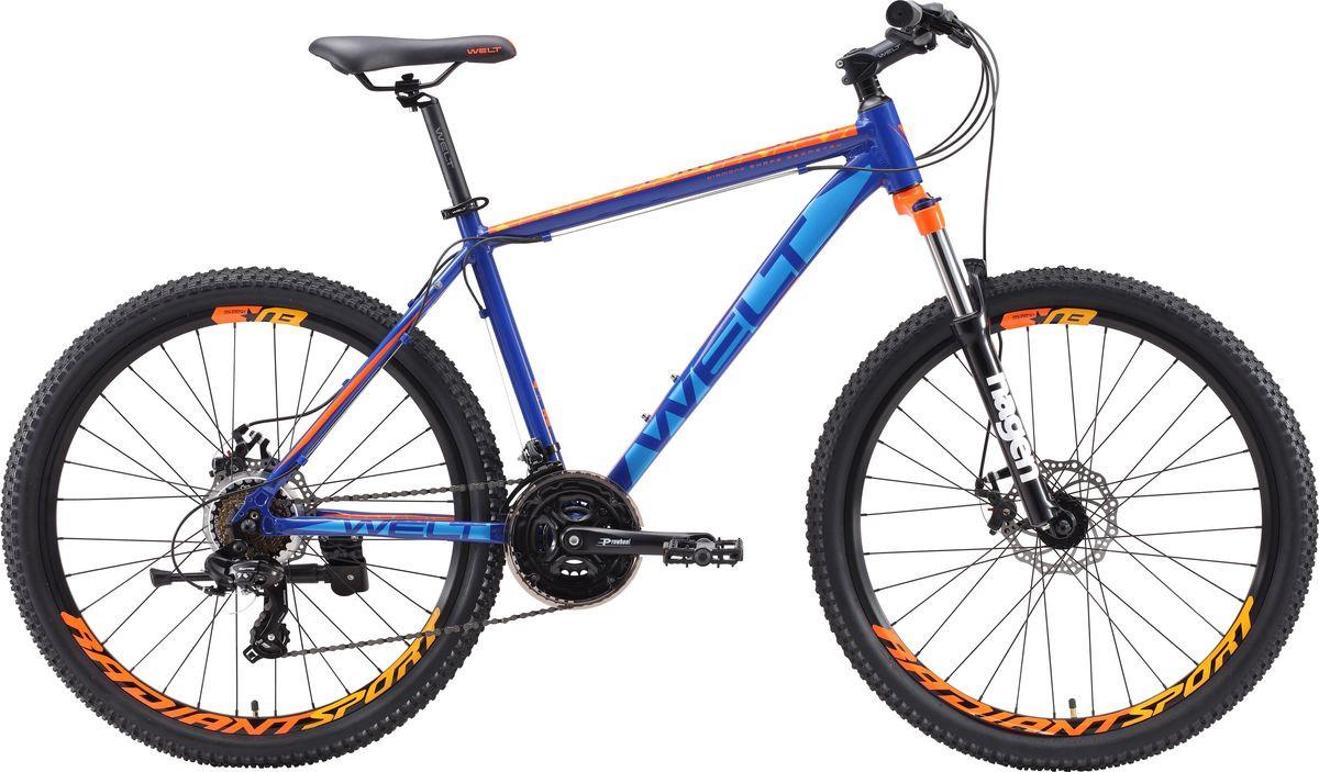 Велосипед горный Welt Ridge 1.0 D 2019, темно-синий, оранжевый, диаметр колес 26 велосипед welt ridge 2 0 hd 2019