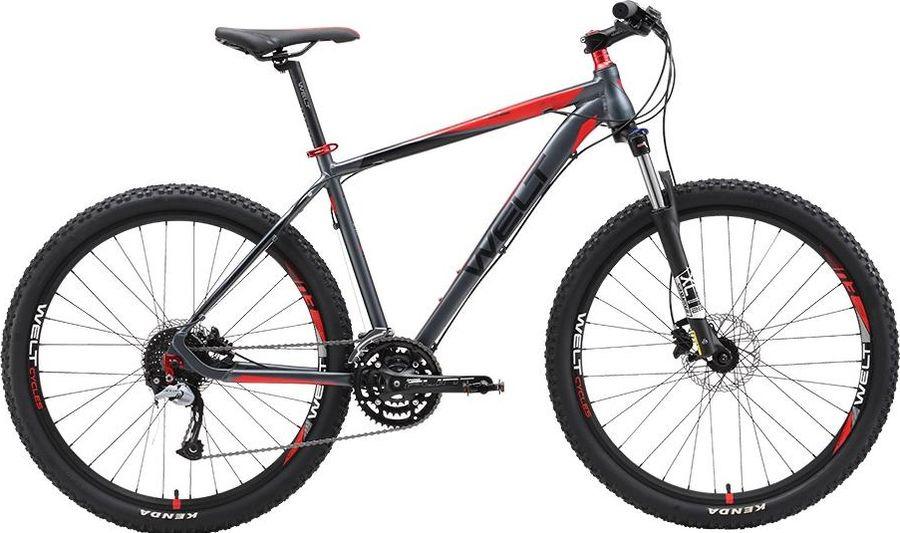 цена на Велосипед горный Welt Rockfall 2.0 29 2019, серый, красный, диаметр колес 29