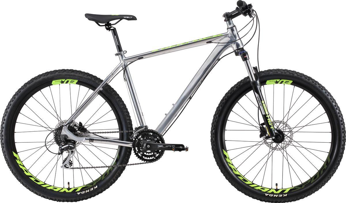 """Велосипед горный Welt Rockfall SE 27 2019, серебристый, диаметр колес 27,5"""""""