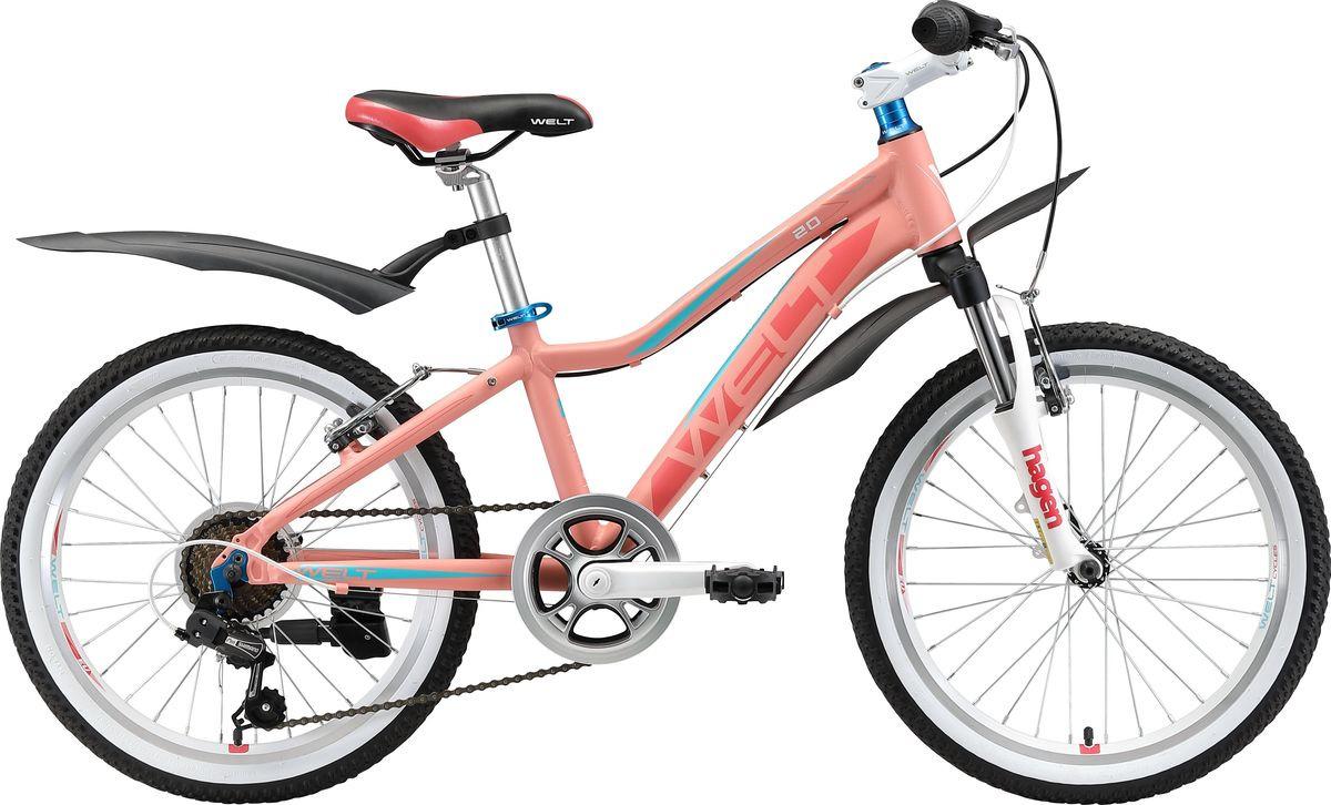Велосипед детский Welt Edelweiss 20 2019, оранжевый, синий, диаметр колес 20