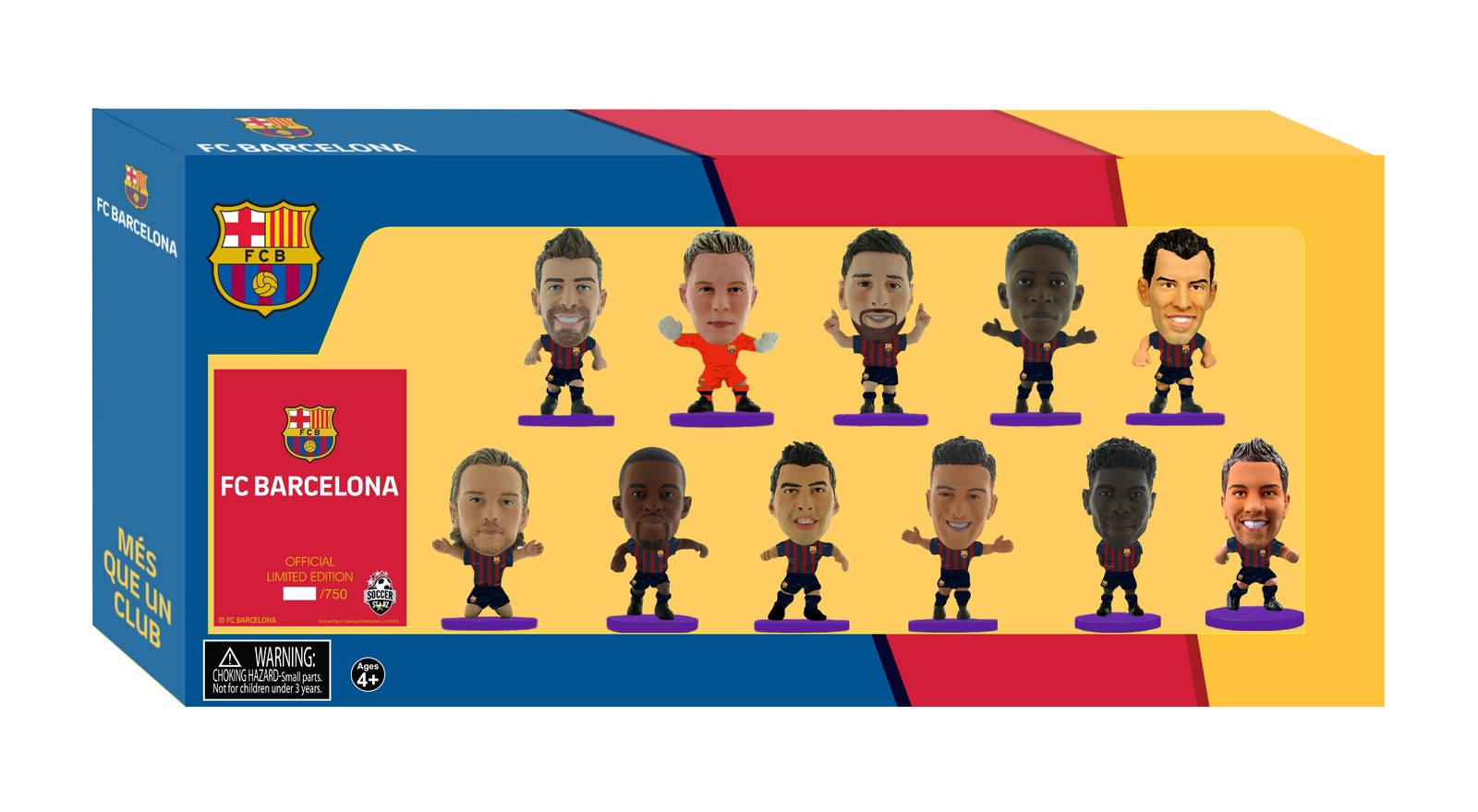 Фигурка Soccerstarz Набор футболистов ФК Барселона Barcelona Team Pack 11 players 2018/19, 404689 цена в Москве и Питере