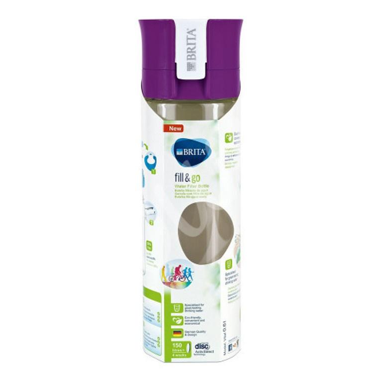 Фильтр переносной BRITA Фильтр-бутылка Филл-энд-гоу Вайтал фиолетовая, фиолетовый
