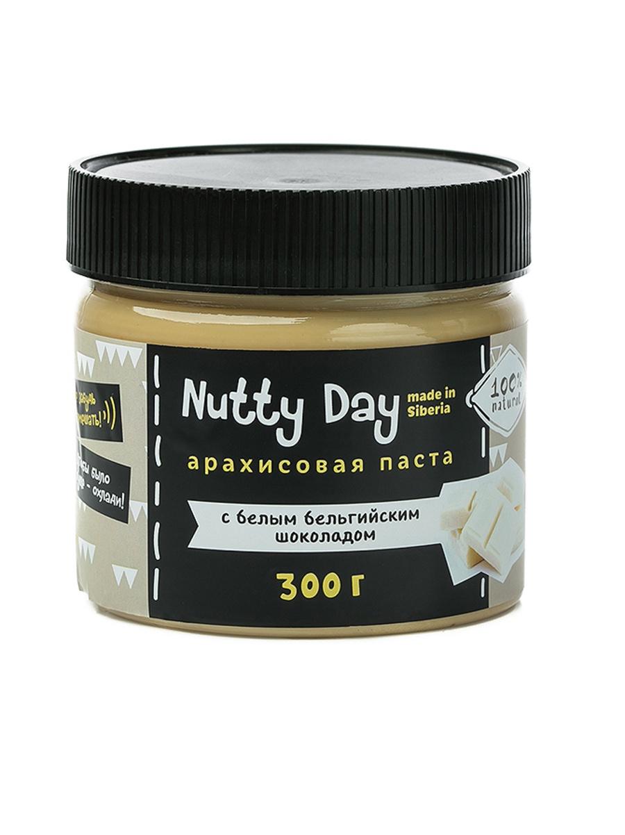 Ореховая паста Nutty Day Паста арахисовая с бельгийским шоколадом