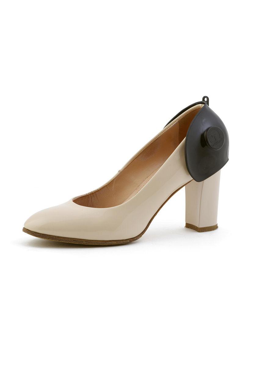 Средство для обуви ТАКИТАК Защита задника обуви при вождении автомобиля для женщин (с каблуком), черная, в целлофане, черный