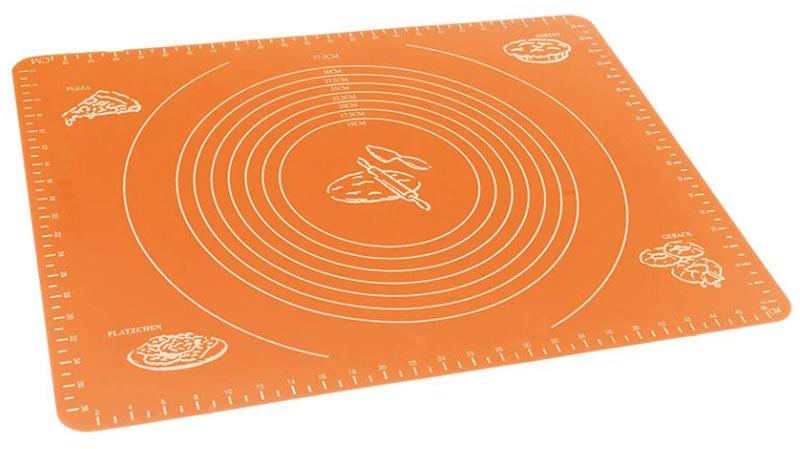 Коврик для теста MARKETHOT Силиконовый коврик для раскатывания теста, оранжевый