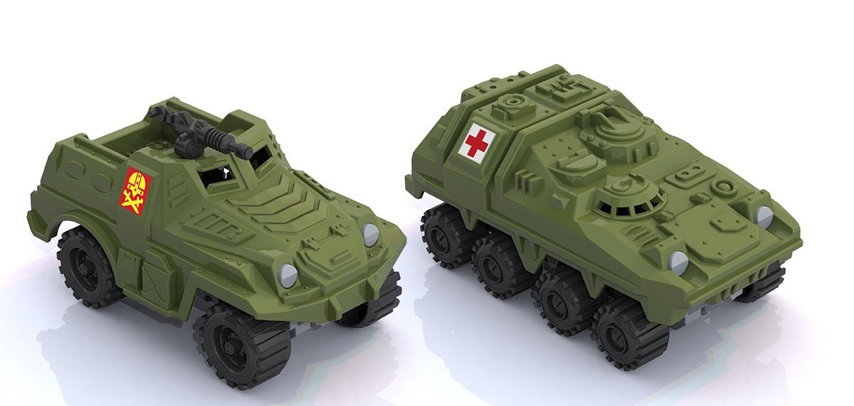 Игровой набор Нордпласт 343-346_зеленый зеленый набор машинок игрушечных нордпласт строительная техника нордик