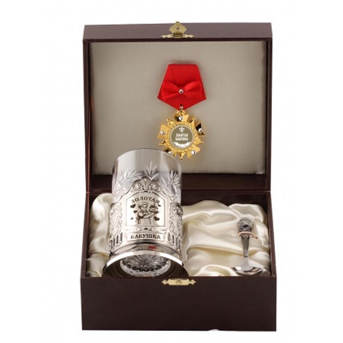Подстаканник Город Подарков 1055050, серый металлик