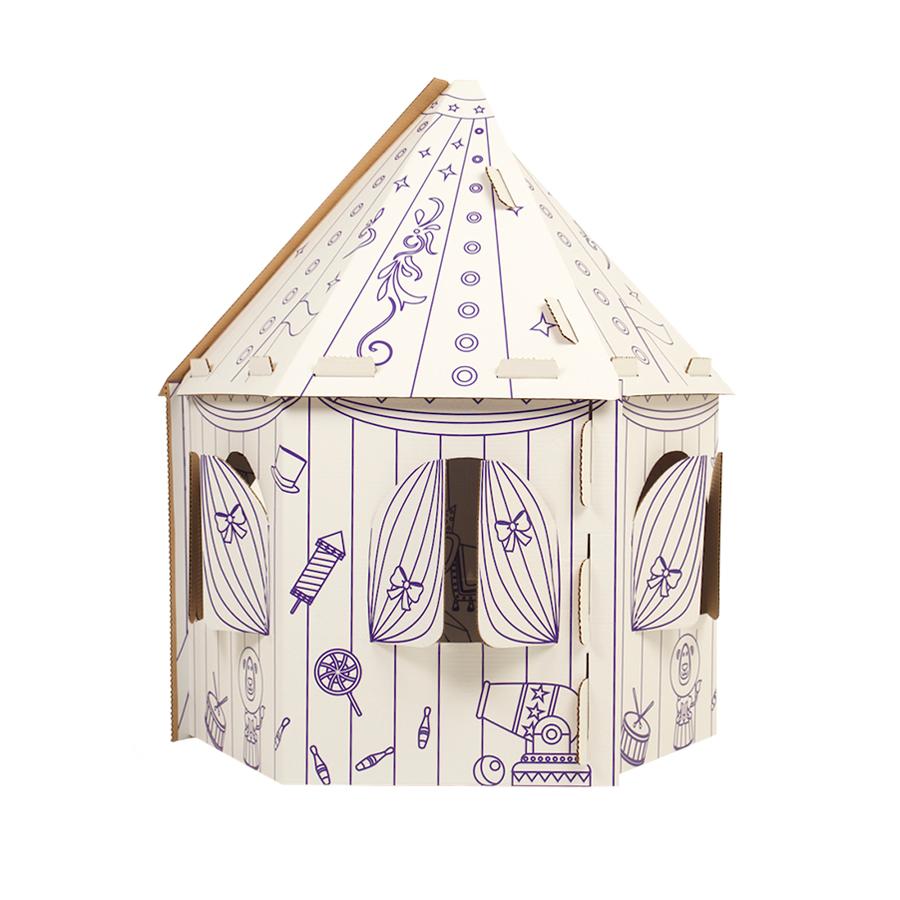 Раскраска Yukka Картонный домик раскраска. Шапито