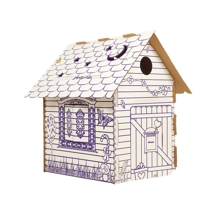 Раскраска Yukka Картонный домик раскраска. Избушка набор для творчества конструктор раскраска домик собачка перепл картон с европодвесом