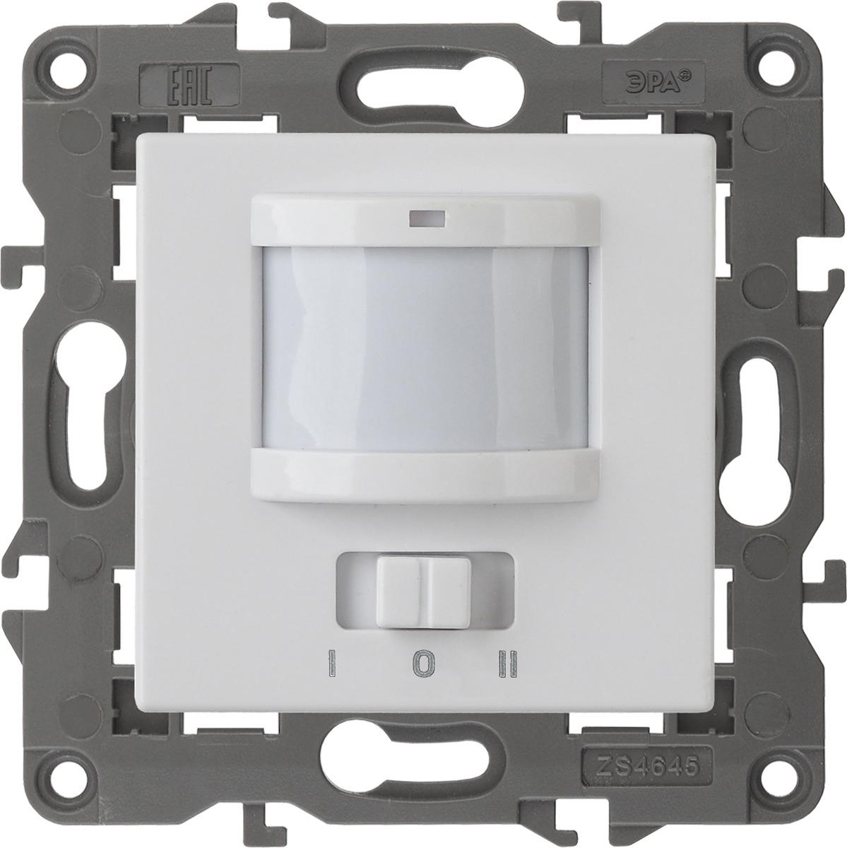 цены Датчик движения ЭРА Elegance, 2-проводной, 14-4103-01, белый, 180-250В, 200Вт