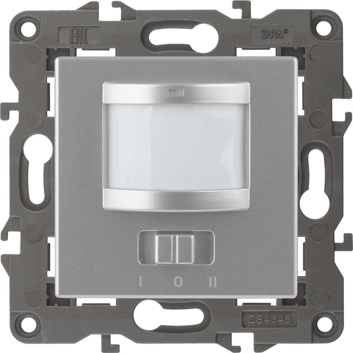 Датчик движения ЭРА Elegance, 2-проводной, 14-4103-03, алюминий, 180-250В, 200Вт датчик движения эра md 03