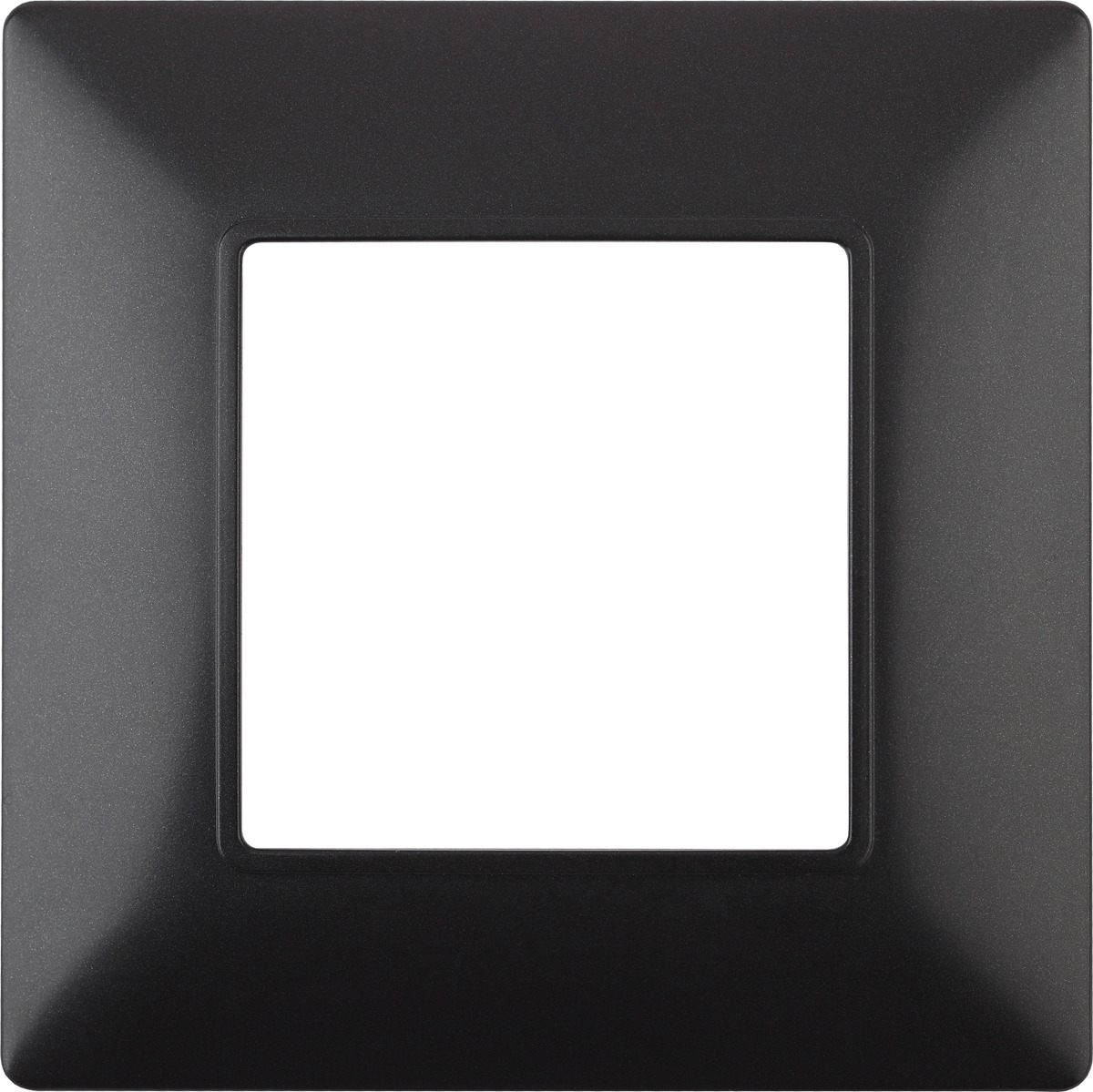 Рамка электроустановочная ЭРА Elegance, на 1 пост, 14-5001-05, антрацит14-5001-05Рамка на 1 пост, Эра Elegance, антрацит