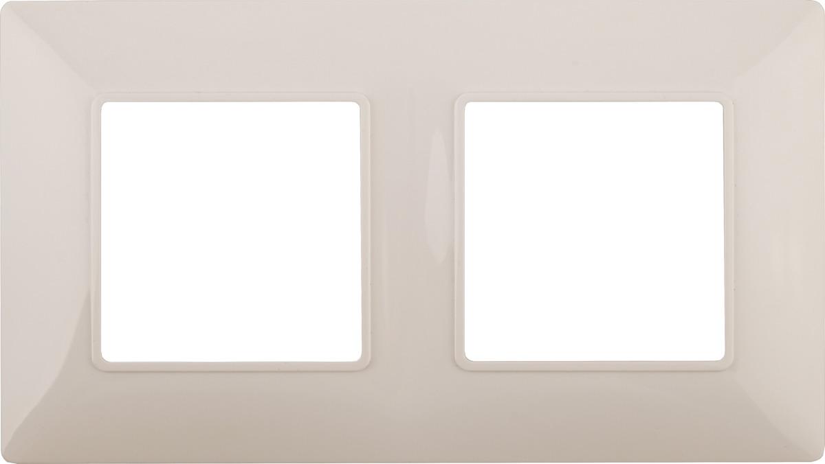 Рамка электроустановочная ЭРА Elegance, на 2 поста, 14-5002-02, слоновая кость рамка электроустановочная эра elegance на 2 поста 14 5002 05 антрацит